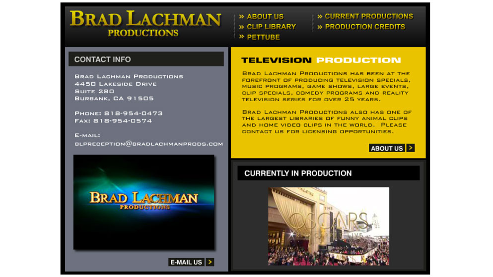 brad lachman productions