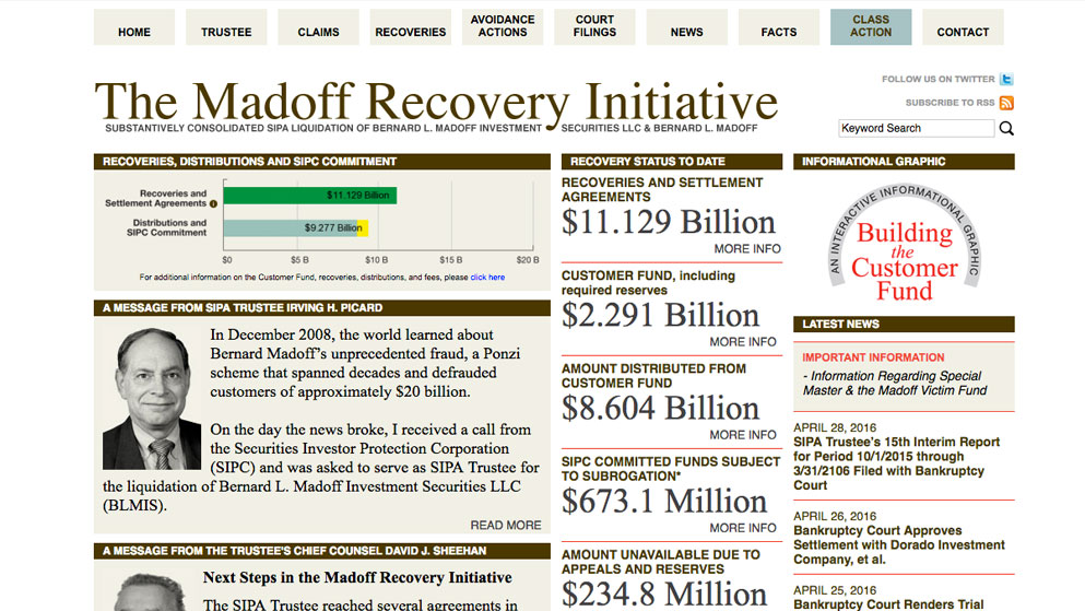 madoff recovery madoff trustee